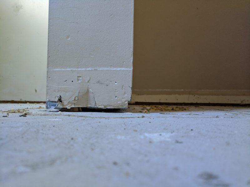 Concrete repair close up