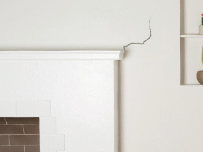 Cracked wall image