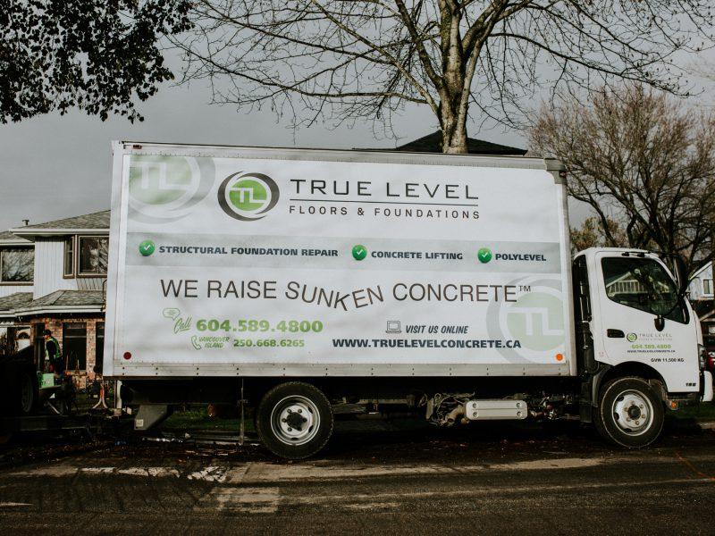 True Level Concrete Service Truck