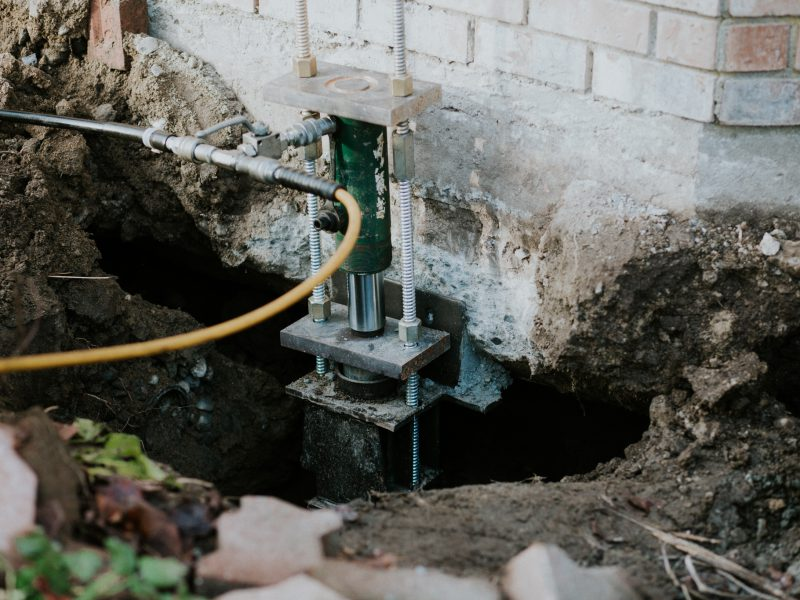 Foundation lift during the repair