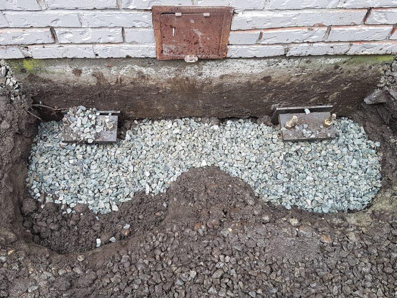 Concrete fixing birds eye view