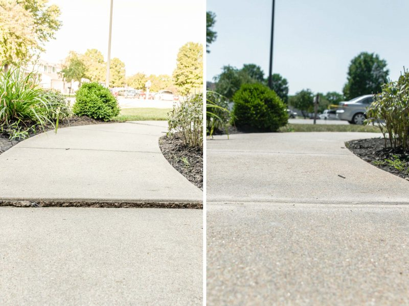 Sidewalk before and after collage
