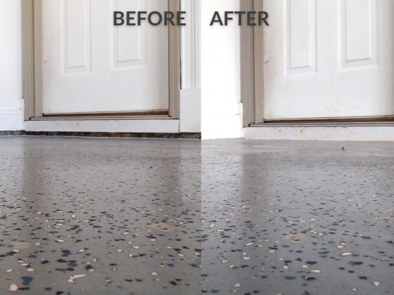 Before and after floor